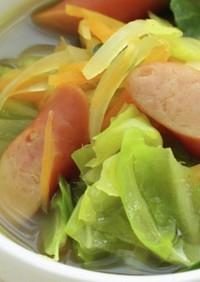 1/3日分野菜!キャベツのカレースープ