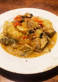 ラム肉と摘果メロンの煮込み
