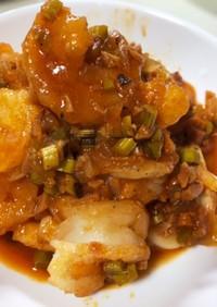 簡単!高野豆腐とアスパラdeエビチリ風