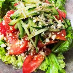 トマトのガーリックドレッシングサラダ