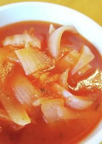 ウインナーの白菜巻きでトマト煮