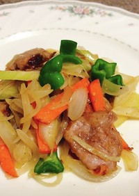 【高たんぱく】豚ヒレ肉と野菜のみそ炒め