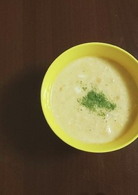 オニオングラタンスープ風オートミール粥