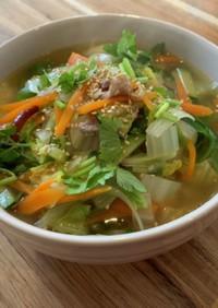 お野菜たっぷり♪簡単春雨スープ