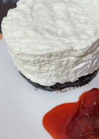 電子レンジなしで作れるチーズケーキ