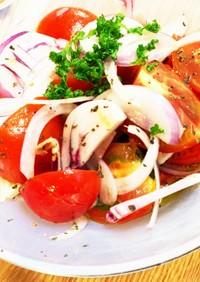トマトと玉ねぎのサッパリサラダ