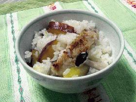 さつま芋と手羽の炊き込みご飯