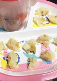 レンジで簡単♡幼児食に♡バナナ蒸しパン