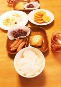 3女と4女の朝食☆6月18日金曜日☆