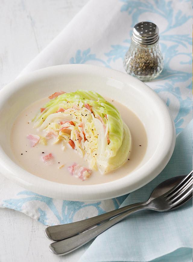 ボリュームキャベツのミルキースープ