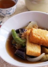 彩り野菜と厚揚げの♡揚げ出し豆腐風