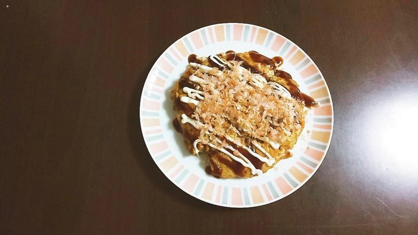 【オートミール】簡単。納豆入りお好み焼き