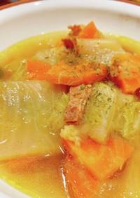 白菜と玉ねぎ大量消費!ほっとするスープ