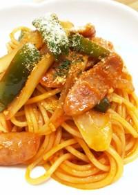 我が家のナポリタンスパゲティ