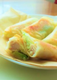 〖 鶏ハムとアボカドのチーズ春巻き 〗