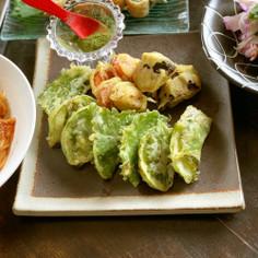 ズッキーニと大葉のはさみ天ぷら
