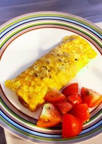 アンチョビと粉チーズの卵焼き