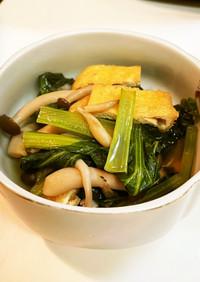 めんつゆで作る小松菜の煮浸し