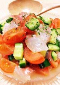 簡単おかず:白身魚と野菜のマリネ