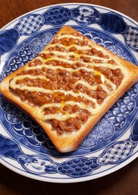 うちの納豆チーズトースト