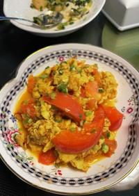 トマトと卵の簡単炒め