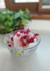 簡単手作りシロップでいちごかき氷