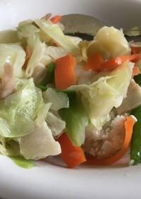 肉野菜の中華丼