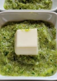 きゅうりとめかぶのランデブー+豆腐