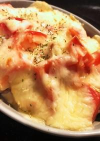鶏もも肉とトマトのチーズ焼き