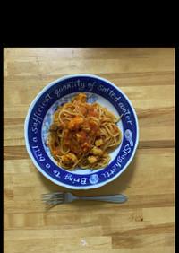 メカジキのトマトスパゲティ