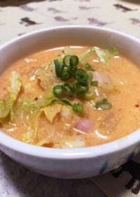 簡単・キムチ豆乳スープ