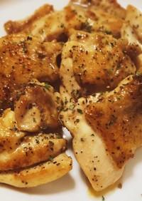 簡単おかず:鶏肉の黒コショウ焼き