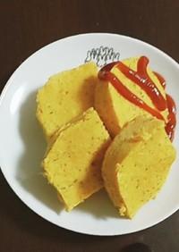 野菜ジュースで食事系オートミール蒸しパン