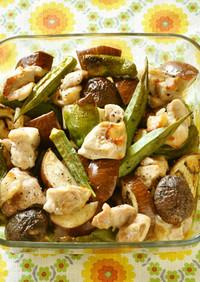 家電におまかせ!野菜と鶏肉のオーブン焼き