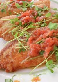 ヒラメのカレームニエルトマトソース
