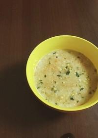 レンジで簡単。ごぼう茶のオートミール粥