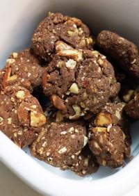 小麦粉不使用☆ミロとナッツのクッキー