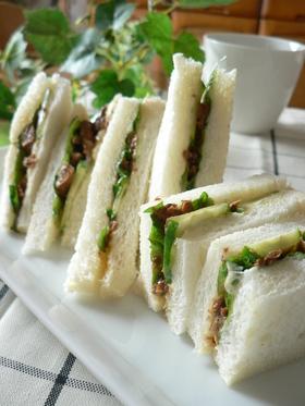 ♣ サンマ缶と大葉の和風サンドイッチ ♣