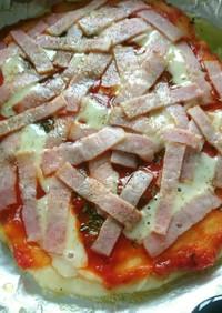 発酵無し!ポリ袋DEフライパンピザ