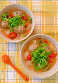 イワシ団子のトマトスープ