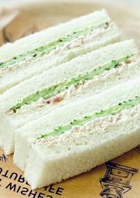 きゅうりとツナのサンドイッチ*簡単朝食に