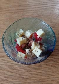 トマトと豆腐の大葉&チーズサラダ