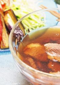 夏野菜たっぷりの鴨つけ素麺