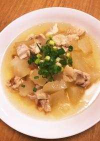 電気圧力鍋で作る冬瓜と梅干し鶏肉のスープ