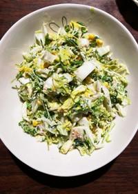 白菜&コーン&豆苗ツナマヨサラダ