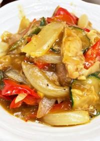 夏野菜のカレー炒め