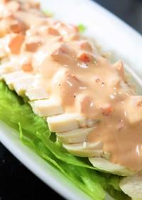 レンジ鶏胸サラダチキン☆ケチャマヨトマト