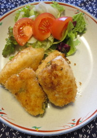 鶏胸肉の梅大葉フライパンフライ