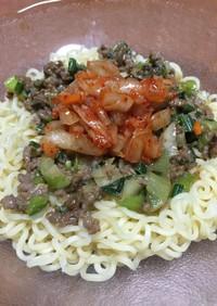 サッポロ一番味噌ラーメンで作るピリ辛冷麺