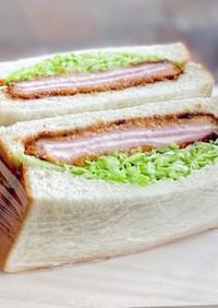 チーズinハムカツ*サンドイッチ